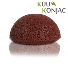 KUU Konjac Sponge with French Red Clay : Dry, Sensitive and/or Mature Skin