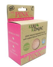 KUU Konjac Sponge with French Pink Clay : Tired, Devitalised or Sun Exposed Skin