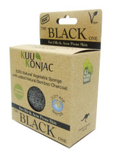 KUU Konjac Sponge with Bamboo Charcoal : Dry, Acne prone and Problematic Skin