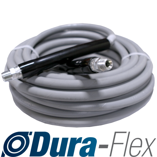 "50' of 3/8"" High Pressure Grey Non-Marking Dura-Flex Hose Solid/Solid Ends 4000 PSI"
