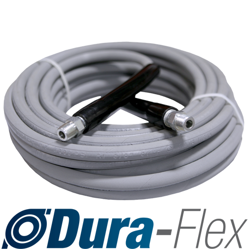 "50' of 3/8"" High Pressure Grey Non-Marking Dura-Flex Hose Swivel/Swivel Ends 4000 PSI"