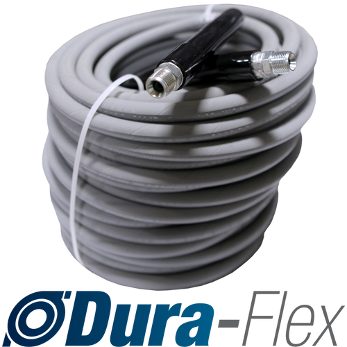 "100' of 3/8"" High Pressure Grey Non-Marking Dura-Flex Hose Solid/Solid Ends 4000 PSI"