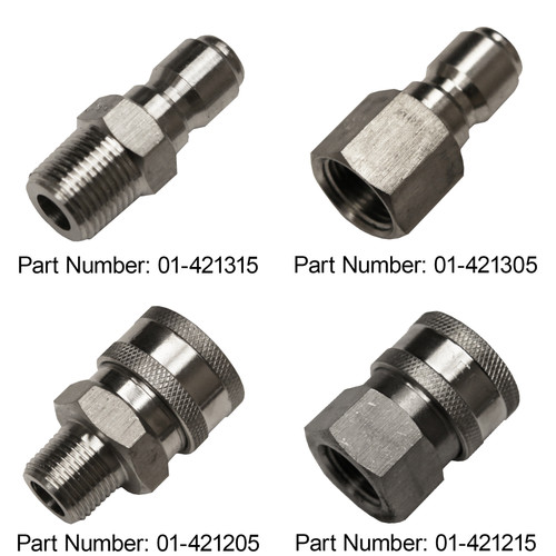 "3/8"" Quick Couplers - Stainless Steel"