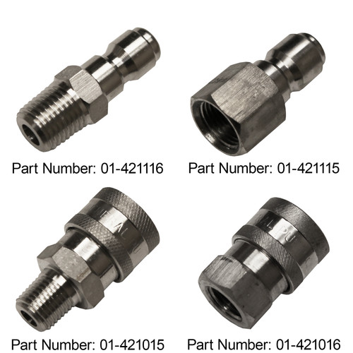 "1/4"" Quick Couplers - Stainless Steel"
