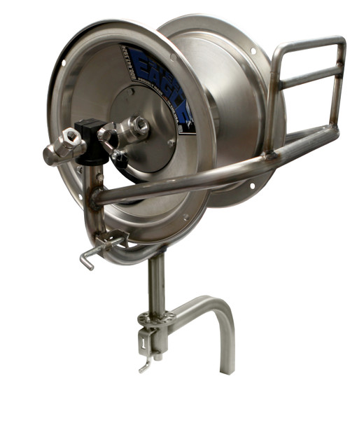 100' Stainless Steel Swivel Reel | Vertical Drop-In Arm