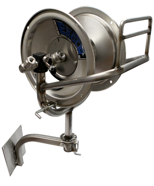 100' Stainless Steel Swivel Reel | Wall Mount