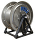 """18"""" Totally Stainless Steel A-Frame Hose Reel   1/2"""" Plumbing"""