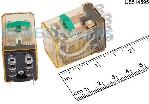 RH2BULCDC12V IDEC RELAY MINI PLUG 12VDC DPDT 10A W/TB&LITE