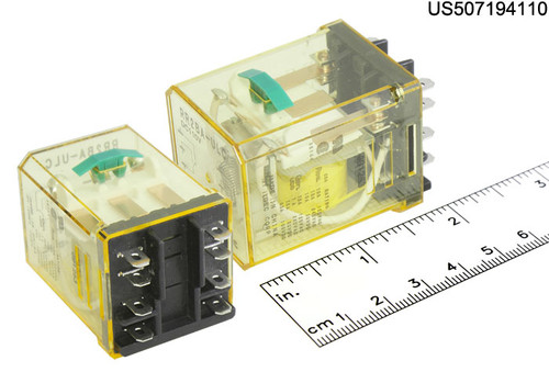 RR2BAULCDC110V IDEC RELAY PLUG IN 110VDC DPDT