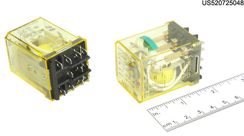 RR3BULCDC48V IDEC RELAY PLUG-IN 10A 3PDT 48VDC W/B&L SILVE