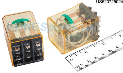 RR3BULCDC24V IDEC RELAY PLUG-IN 10A 3PDT 24VDC W/B&L SILVE