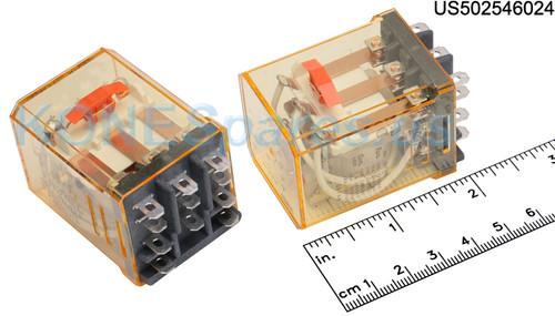 RR3BULCAC24V IDEC RELAY PLUG-IN 10A 3PDT 24VAC W/B&L SILVE