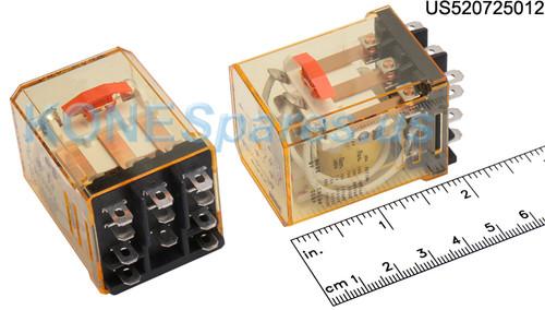 RR3BULCAC12 IDEC RELAY PLUG IN 10A 3PDT 12VAC W/B&L SILV