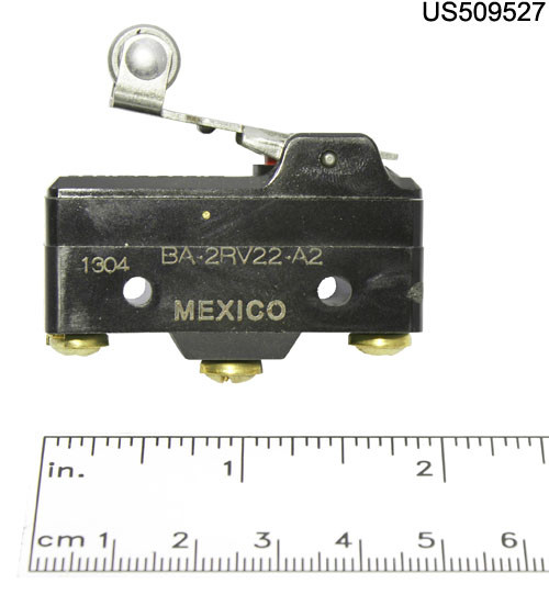 6115-BA-2RV22-A2 SWITCH MICRO ROLLER LEVER ACT