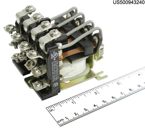 24F1434 RELAY POWER 240VAC COIL 4PDT 25A