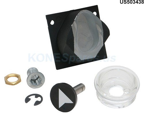 US503438 HOUSING, SQ PUSH BUTTON BLACK (REPLACES US508610)