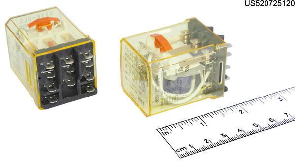 RR3BULCAC120 IDEC RELAY PLUGIN 10A 3PDT 120VAC W B L SILV