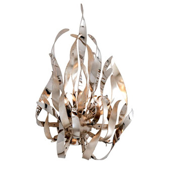 Graffiti Silver Leaf Polished Stainless