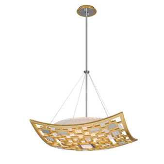 Motif Gold Leaf W Polished Stainless