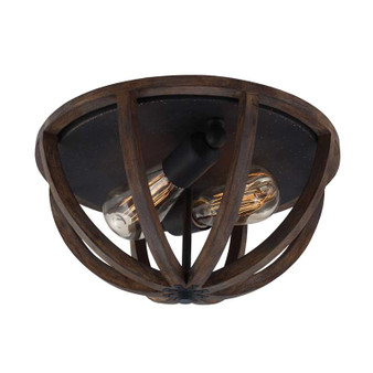 2 - Light Flushmount,Weathered Oak Wood / Antique Forged Iron,Flush & Semi-Flush Mount,Feiss Lighting