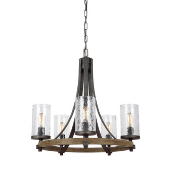 Feiss F3133/5DWK/SGM Angelo 5 - Light Chandelier