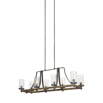 Feiss F3136/8DWK/SGM Angelo 8 - Light Island Chandelier