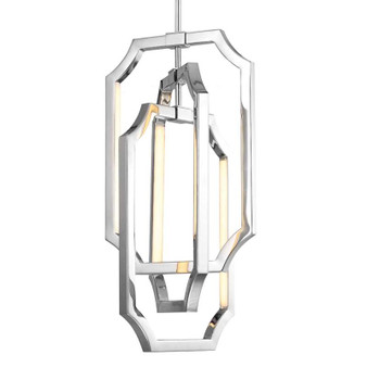 6 - Light Audrie Chandelier,Polished Nickel,Chandelier,Feiss Lighting