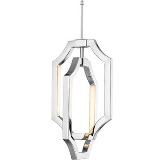 4 - Light Mini Audrie Pendant,Polished Nickel,Mini Pendant,Feiss Lighting