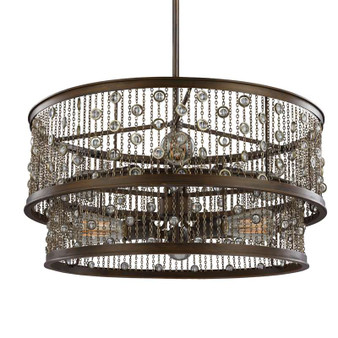 6 - Light Chandelier,Chestnut Bronze,Chandelier,Feiss Lighting
