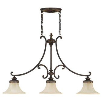 3 - Light Island Chandelier,Walnut,Island Light,Feiss Lighting