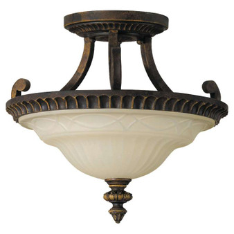 2 - Light Indoor Semi-Flush Mount,Walnut,Flush & Semi-Flush Mount,Feiss Lighting