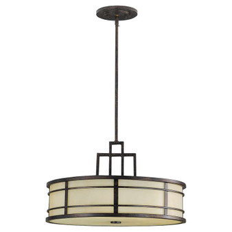 3 - Light Shade Pendant,Grecian Bronze,Pendant,Feiss Lighting