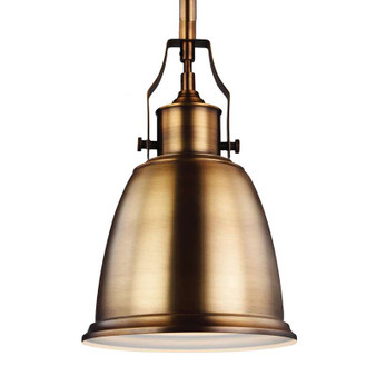 1 - Light Mini-Pendant,Aged Brass,Mini Pendant,Feiss Lighting