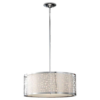 3 - Light Large Pendant,Chrome,Chandelier,Feiss Lighting