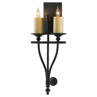 2 - Light Sconce,Antique Forged Iron,Bath & Vanity,Feiss Lighting