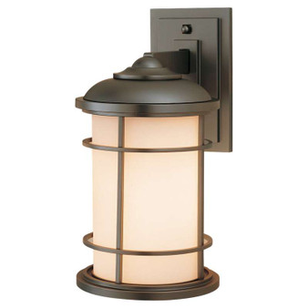 1 - Light Wall Lantern,Burnished Bronze,Wall Sconce,Feiss Lighting