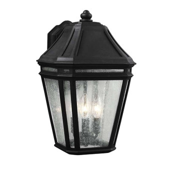 3 - Light Outdoor Sconce,Black,Wall Sconce,Feiss Lighting