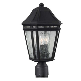 3 - Light Outdoor Post,Black,,Feiss Lighting