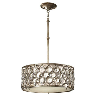 3 - Light Shade Pendant,Burnished Silver,Chandelier,Feiss Lighting