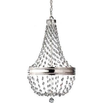 6 - Light Chandelier,Polished Nickel,Chandelier,Feiss Lighting