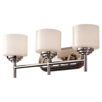 3 - Light Vanity Fixture,Polished Nickel,Bath & Vanity,Feiss Lighting