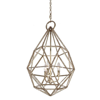 3 - Light Marquise Pendant,Burnished Silver,Pendant,Feiss Lighting