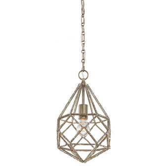1 - Light Marquise Mini Pendant,Burnished Silver,Mini Pendant,Feiss Lighting