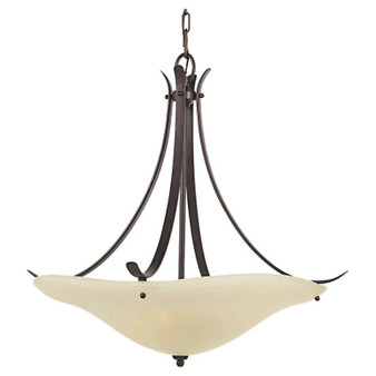 3 - Light Uplight Chandelier,Grecian Bronze,Chandelier,Feiss Lighting