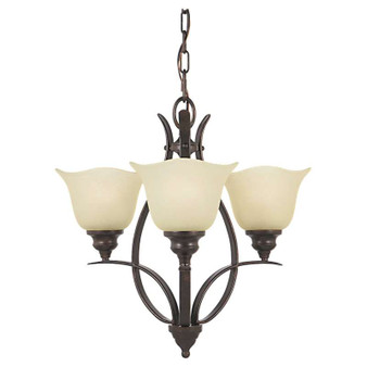 3 - Light Mini Chandelier,Grecian Bronze,Mini Chandelier,Feiss Lighting