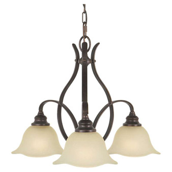 3 - Light Kitchen Chandelier,Grecian Bronze,Chandelier,Feiss Lighting