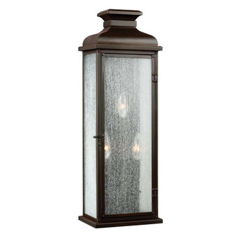 3 - Light Outdoor Sconce,Dark Aged Copper,Wall Sconce,Feiss Lighting
