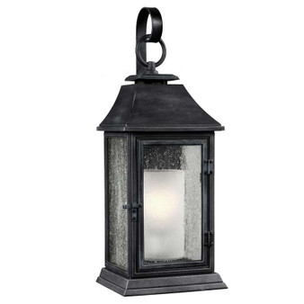1 - Light Outdoor Sconce,Dark Weathered Zinc,Wall Sconce,Feiss Lighting