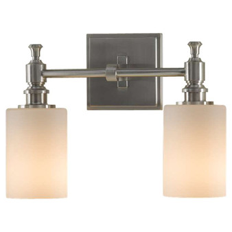 2 - Light Vanity Fixture,Brushed Steel,Bath & Vanity,Feiss Lighting