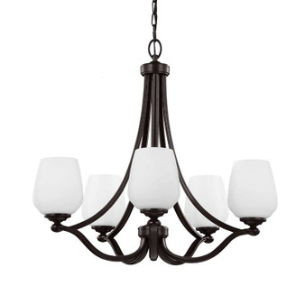 5 - Light Chandelier Heritage Bronze,Heritage Bronze,Chandelier,Feiss Lighting